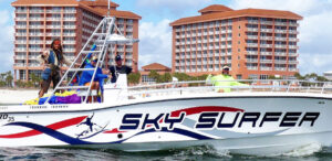 sky surfer parasail orange beach